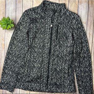 Andrew Marc Zip Jacket Black White M